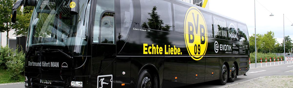 Mannschaftsbus des BVB
