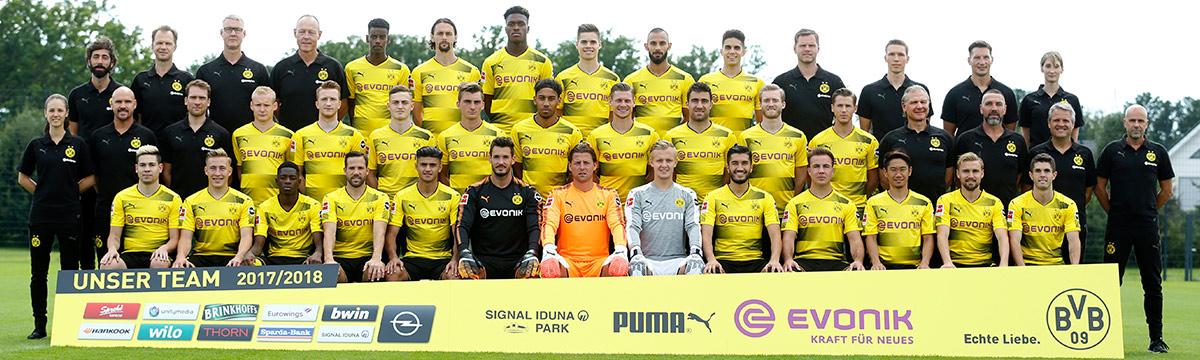 Mannschaftsfoto des BVB