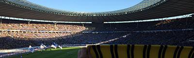 Gästeblock im Olympiastadion Berlin
