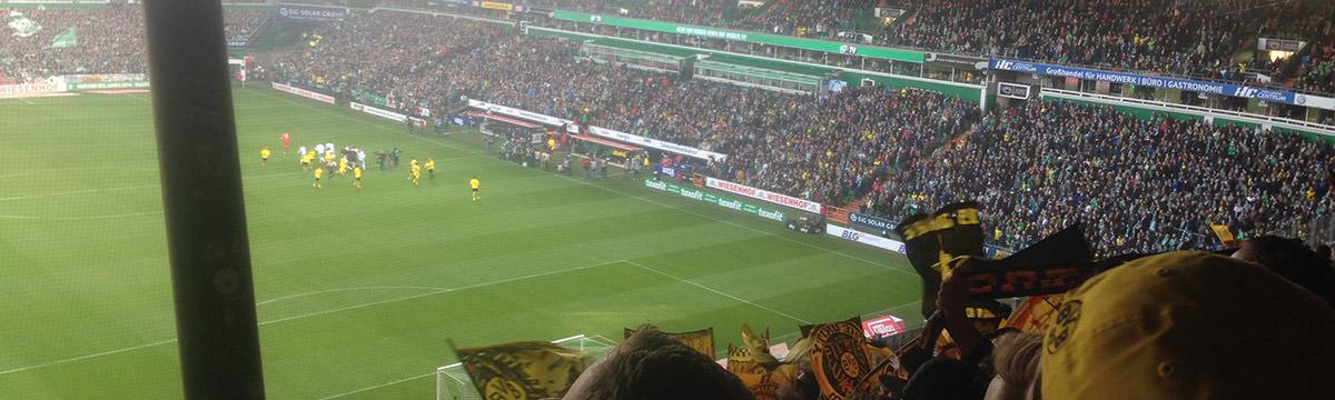 Gästeblock im Weserstadion in Bremen