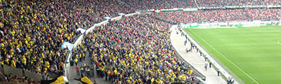 Gästeblock der HDI Arena in Hannover