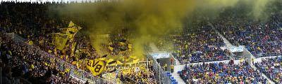Gästeblock der Wirsol Rhein-Neckar-Arena in Hoffenheim