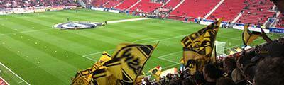 Gästeblock der Coface Arena in Mainz