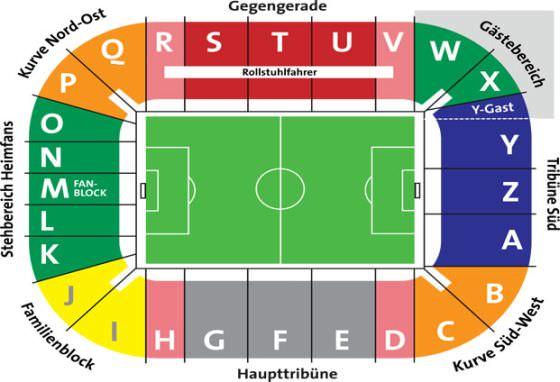 Stadionplan WWK Arena
