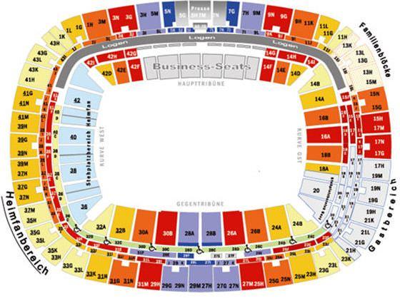 Stadionplan Commerzbank-Arena