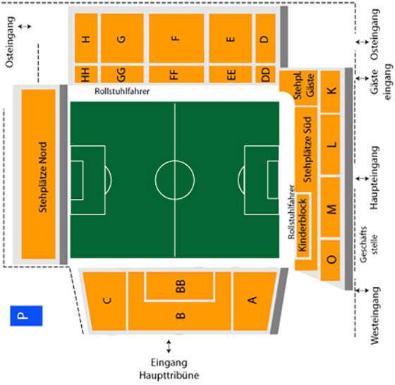 Stadionplan Schwarzwald-Stadion