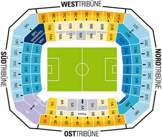 Stadionplan Volksparkstadion