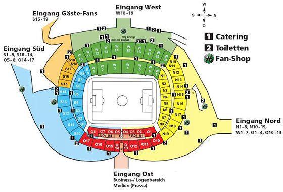 Stadionplan HDI Arena