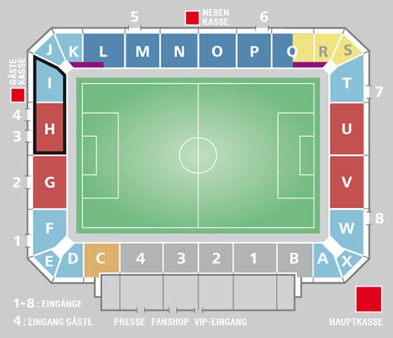 Stadionplan Audi-Sportpark