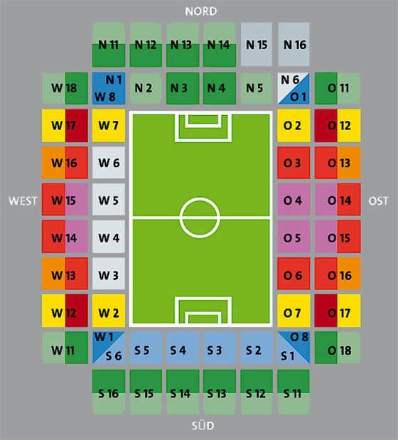 Stadionplan RheinEnergieSTADION