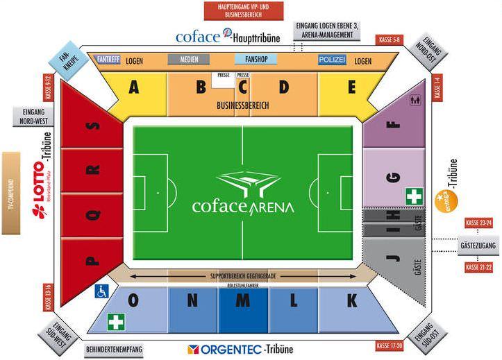 Stadionplan Opel Arena