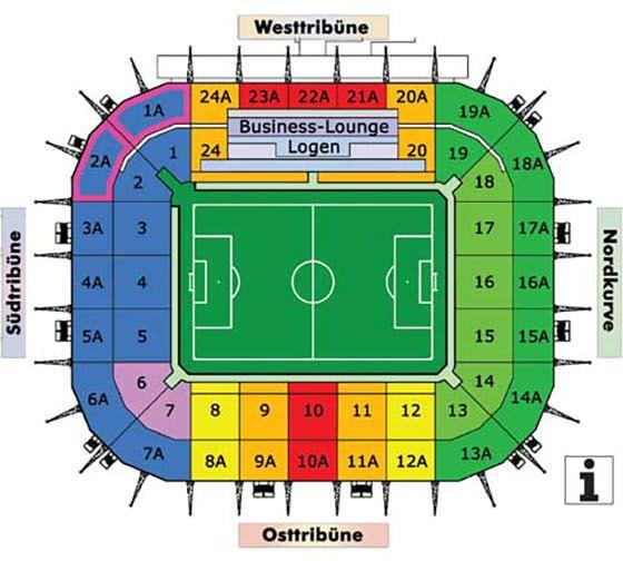 Stadionplan Borussia-Park