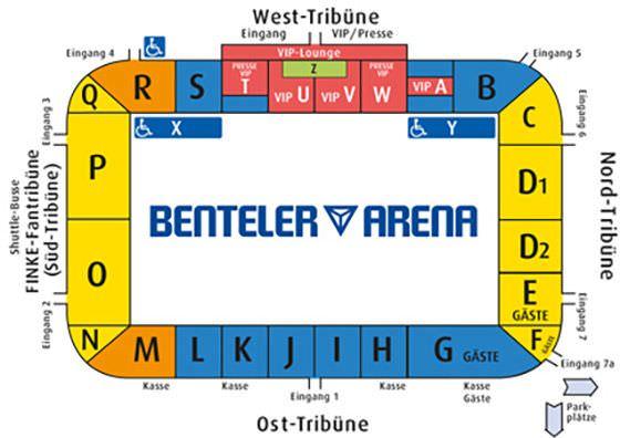 Stadionplan Benteler-Arena