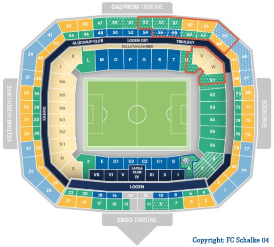 Stadionplan VELTINS-Arena