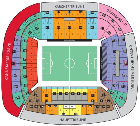 Stadionplan Mercedes Benz Arena