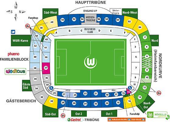 Stadionplan Volkswagen Arena